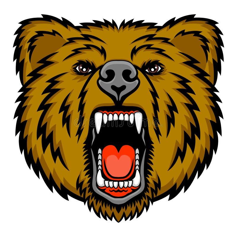 Urso da rosnadura ilustração royalty free