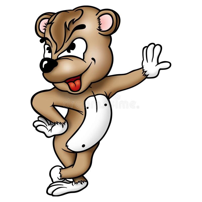 Urso de espera da peluche ilustração stock
