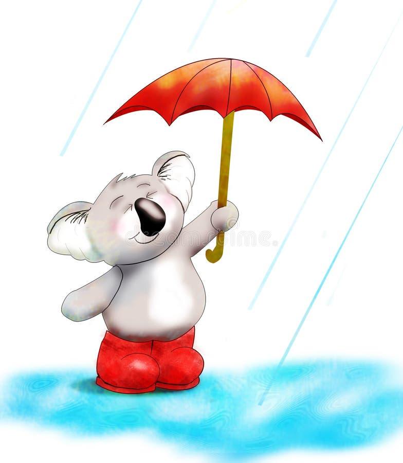 Urso de Koala nos carregadores ilustração royalty free