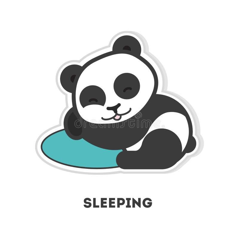 Urso de panda do sono ilustração do vetor
