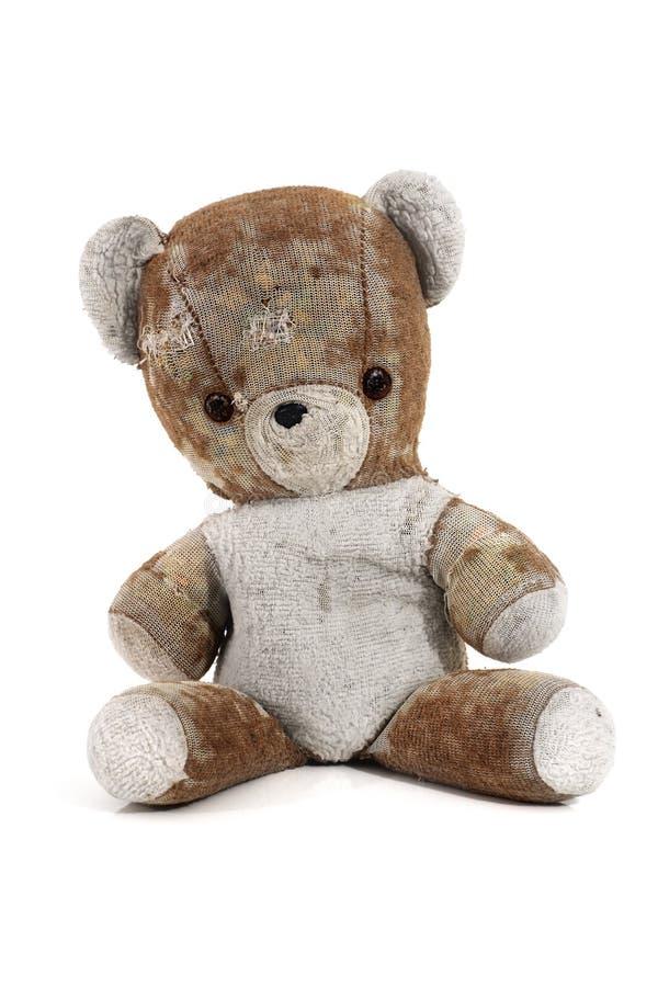 Urso de peluche antigo   foto de stock royalty free
