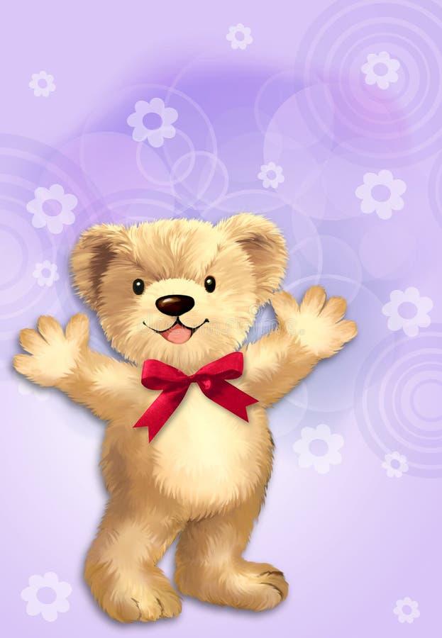 Urso de peluche bonito ilustração do vetor