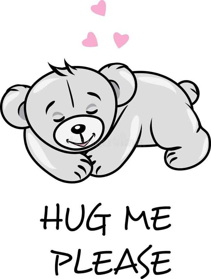 Urso de peluche bonito do sono ilustração royalty free