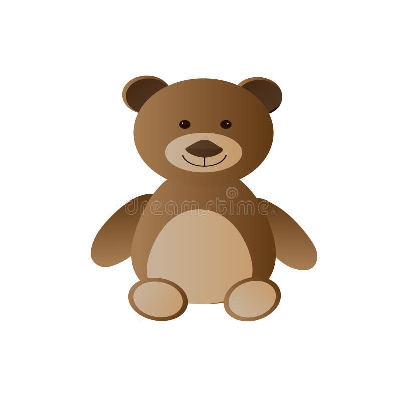 Urso de peluche bonito sob a forma de um brinquedo ilustração stock