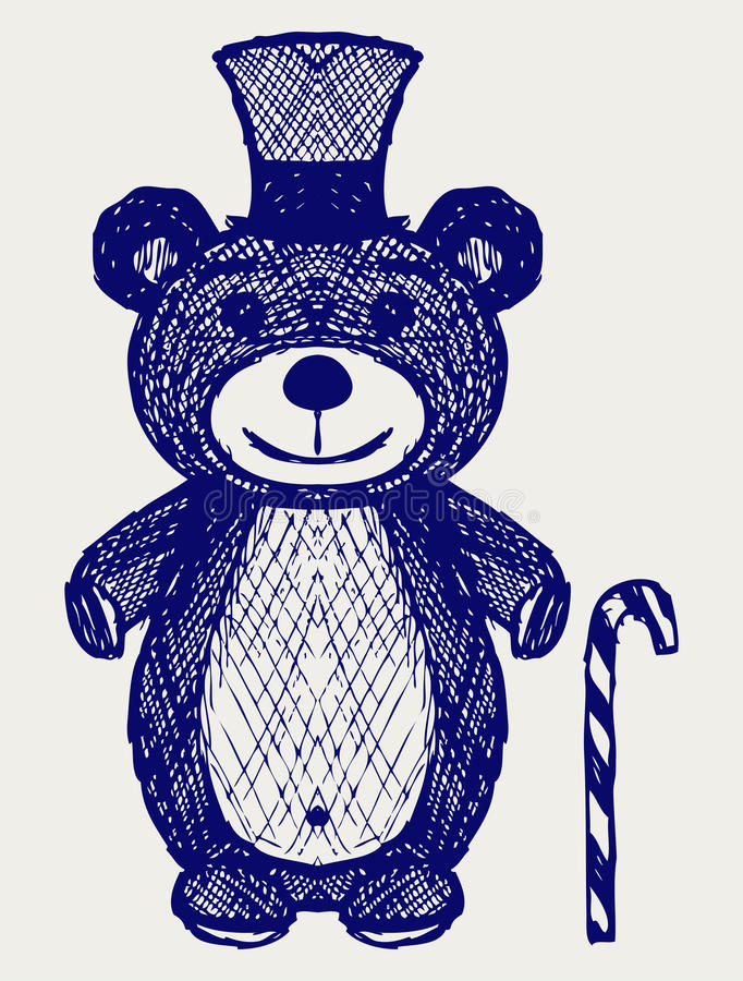 Urso de peluche criativo ilustração do vetor