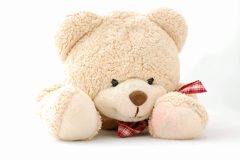 Urso de peluche de sorriso feliz imagem de stock