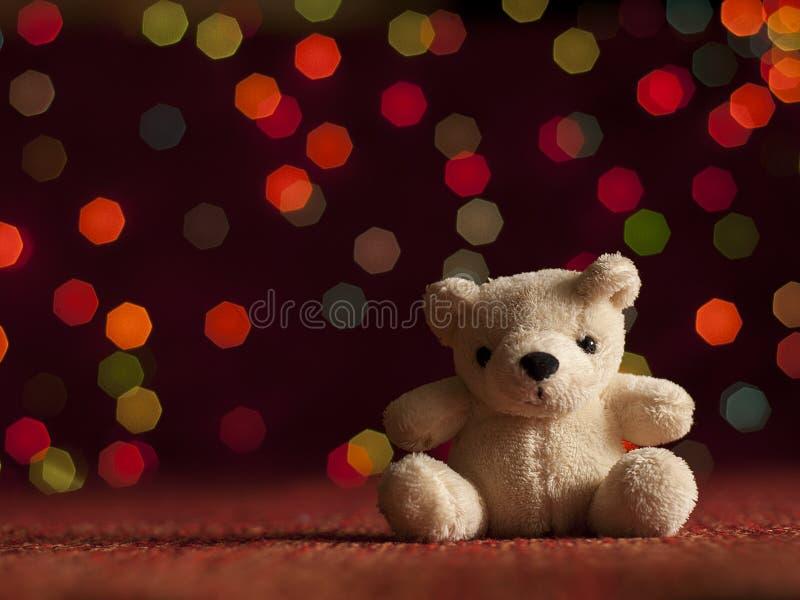 Urso de peluche do ano novo. foto de stock royalty free