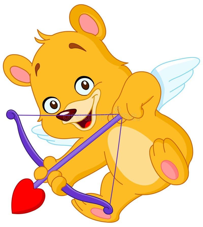 Urso de peluche do Cupid ilustração royalty free
