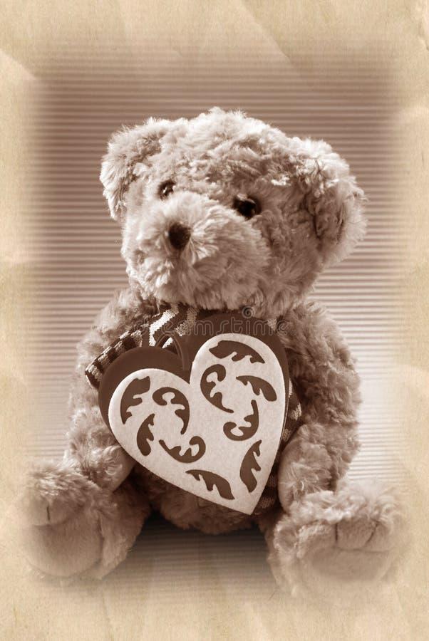 Urso de peluche do estilo do vintage fotografia de stock royalty free
