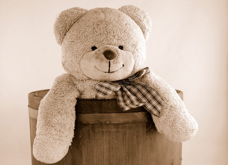 Urso de peluche do vintage fotos de stock royalty free