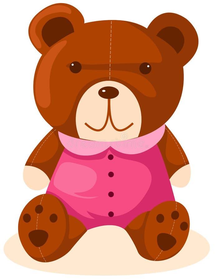 Urso de peluche dos desenhos animados ilustração royalty free