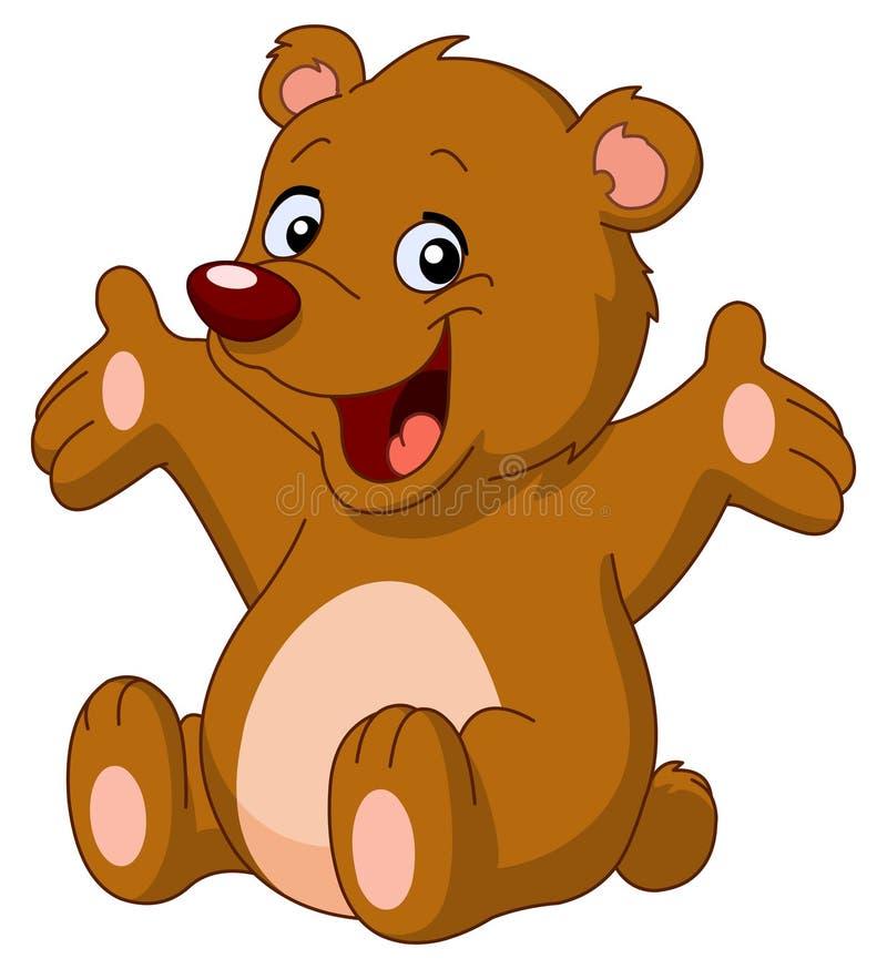 Urso de peluche feliz ilustração do vetor