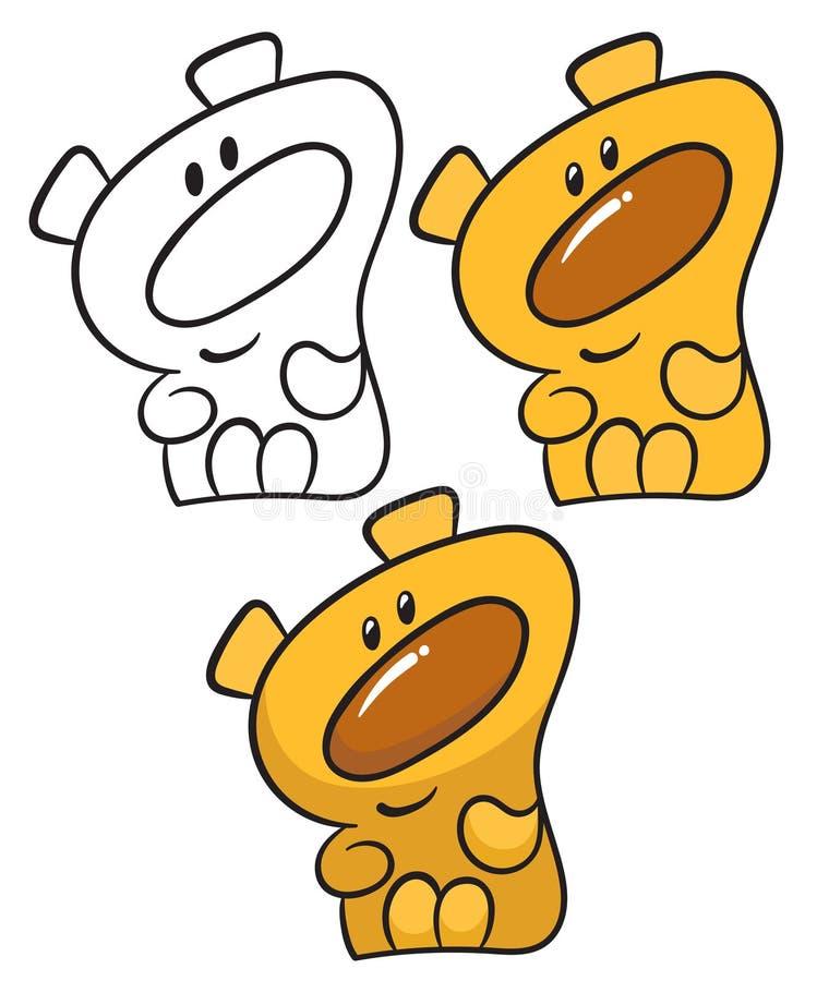 Urso de peluche feliz ilustração stock