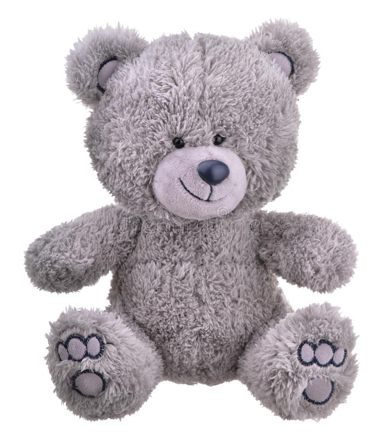Urso de peluche peludo cinzento fotos de stock