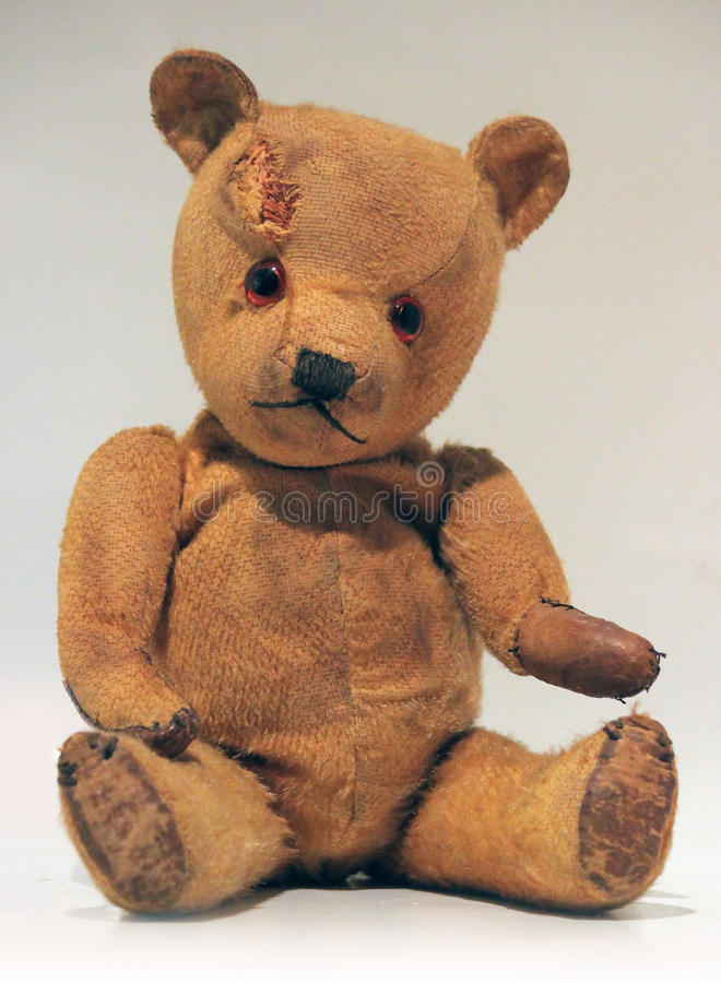 Urso de peluche velho fotografia de stock
