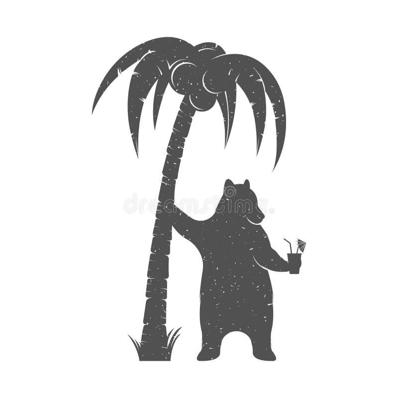 Urso do divertimento da ilustração do vetor ilustração royalty free