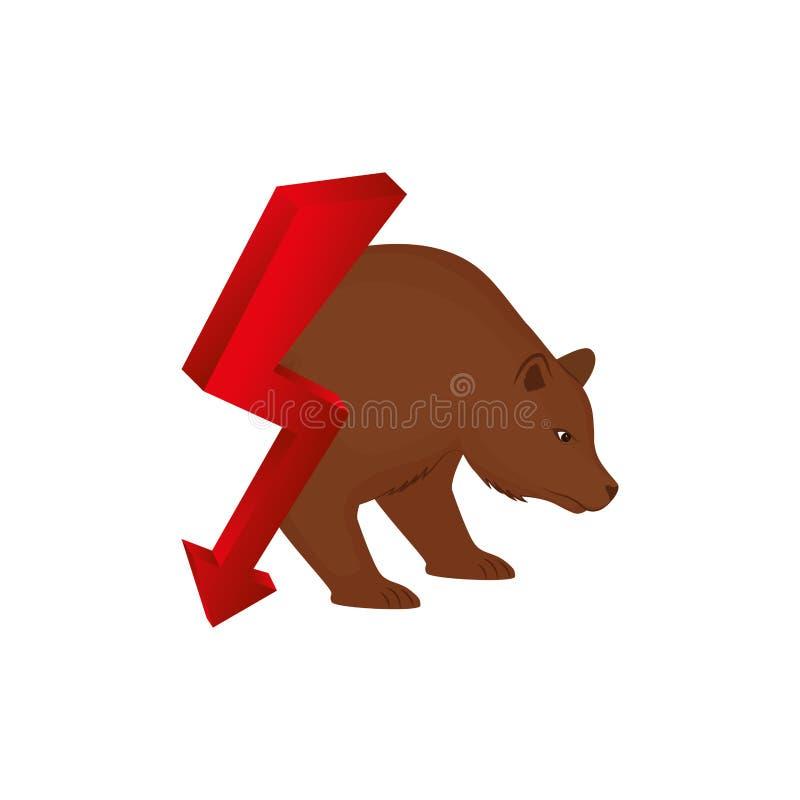Urso do mercado de valores de ação ilustração royalty free