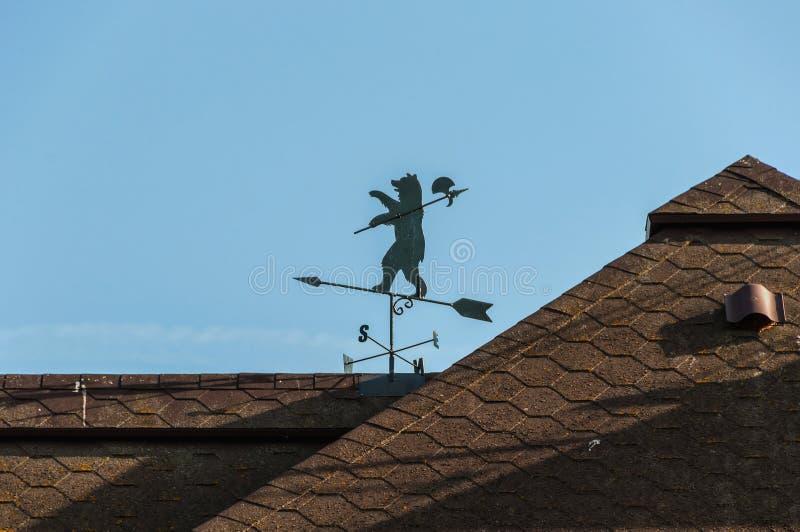 Urso do telhado do Weathervane imagens de stock