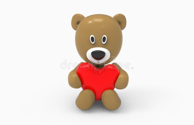 Urso e coração fotos de stock royalty free