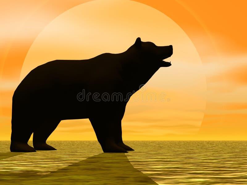 Urso ensolarado ilustração royalty free