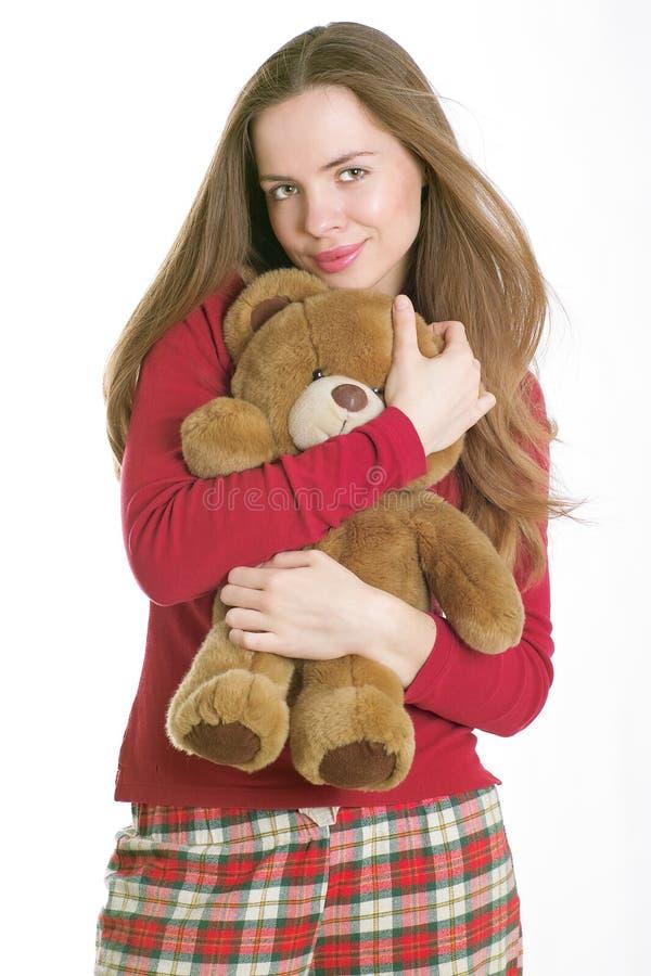 Urso favorito da peluche fotografia de stock