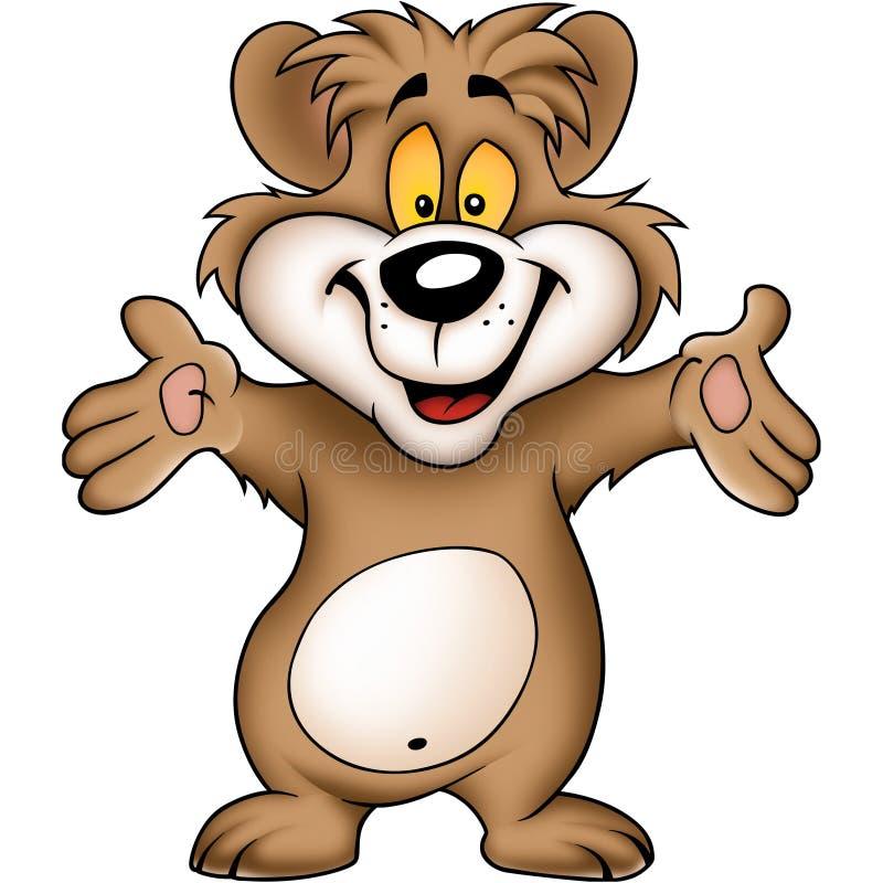 Urso feliz doce ilustração stock