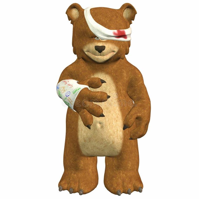 Urso ferido imagens de stock