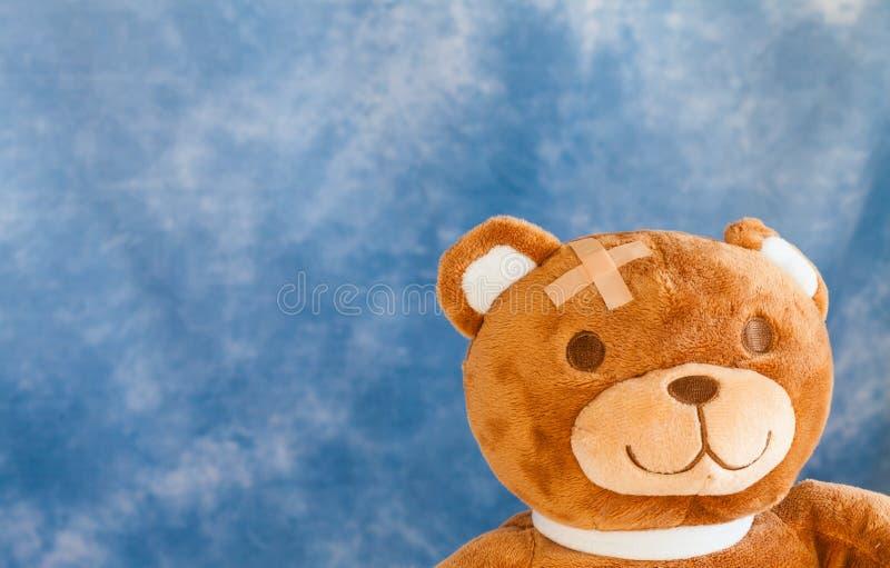 Urso ferido da peluche imagens de stock