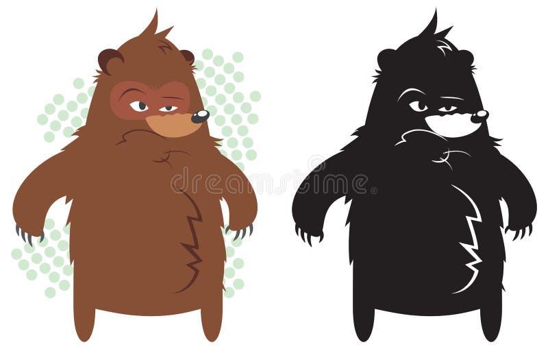 Urso gordo irritado imagem de stock royalty free