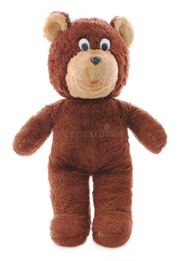 Urso isolado da peluche de Brown fotografia de stock
