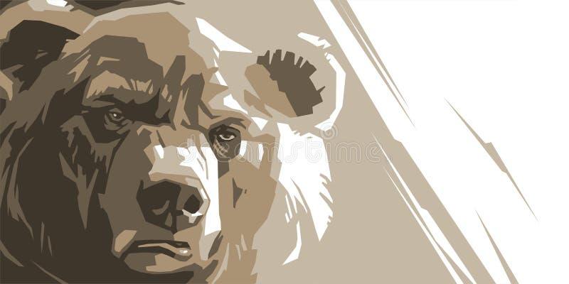Urso marrom irritado ilustração royalty free