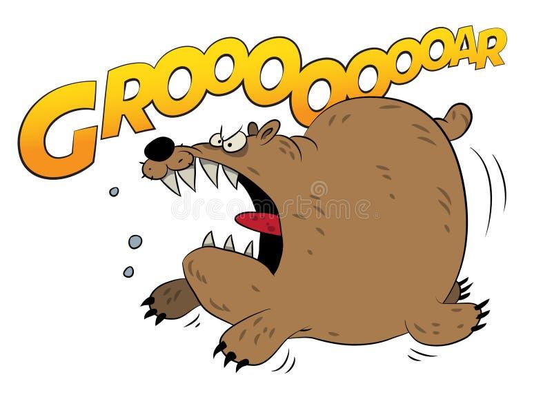 Download Urso marrom running Raging ilustração stock. Ilustração de monster - 107526401
