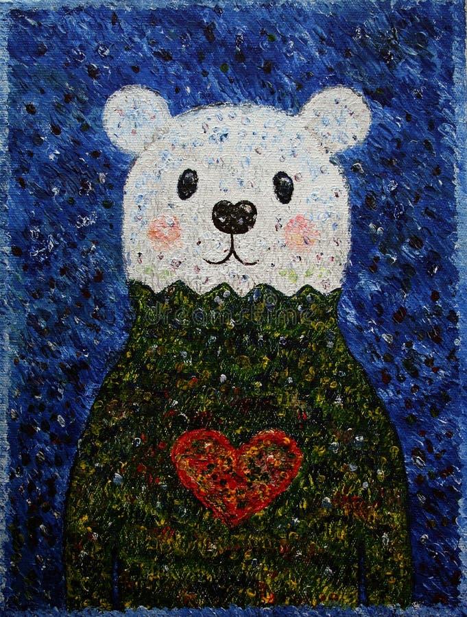 Urso Misha do inverno imagem de stock