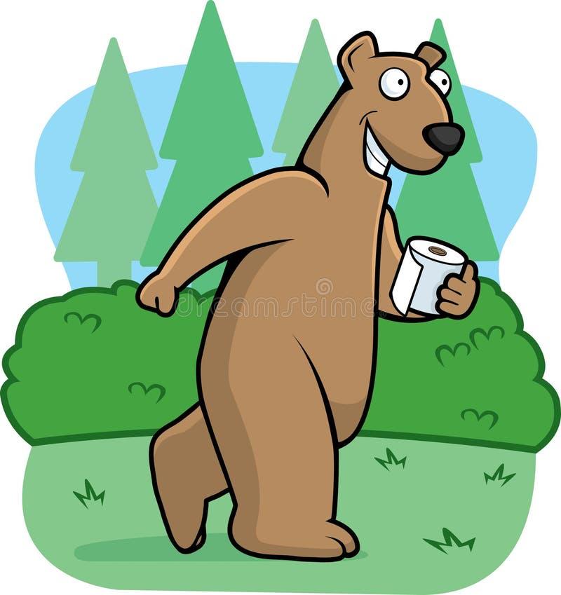 Urso nas madeiras ilustração royalty free