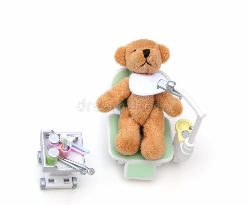 Urso no dentista foto de stock royalty free
