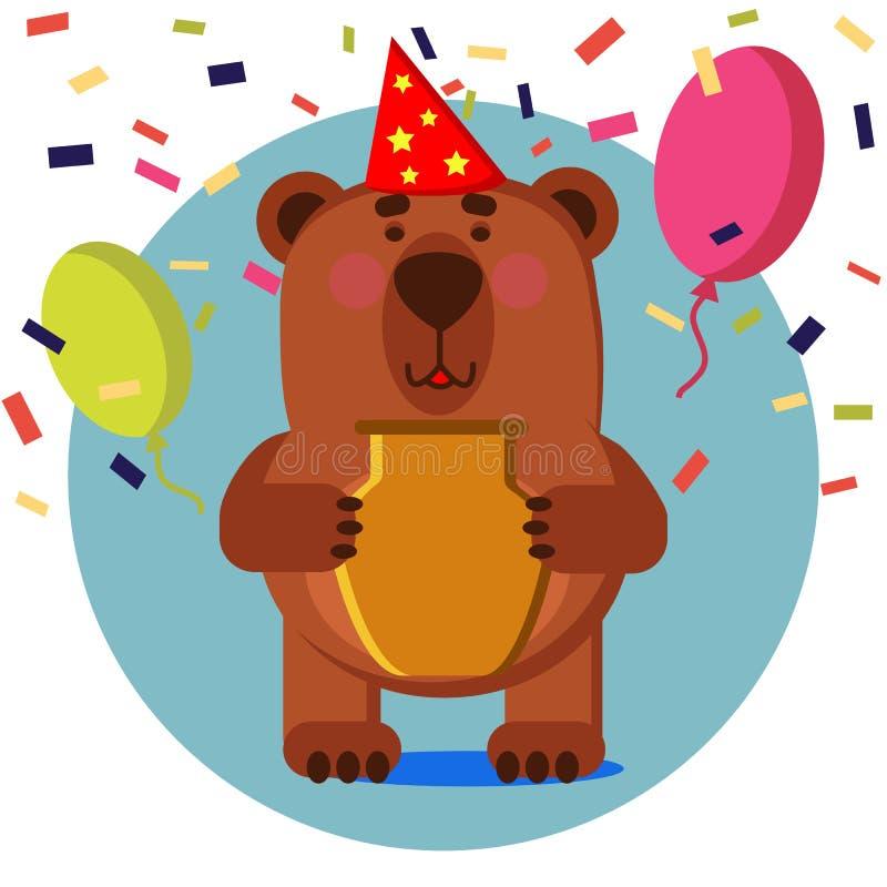 Urso no feriado ilustração stock