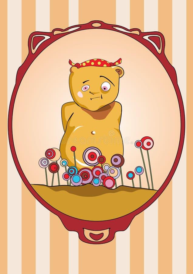 Urso No Feriado Fotografia de Stock Royalty Free