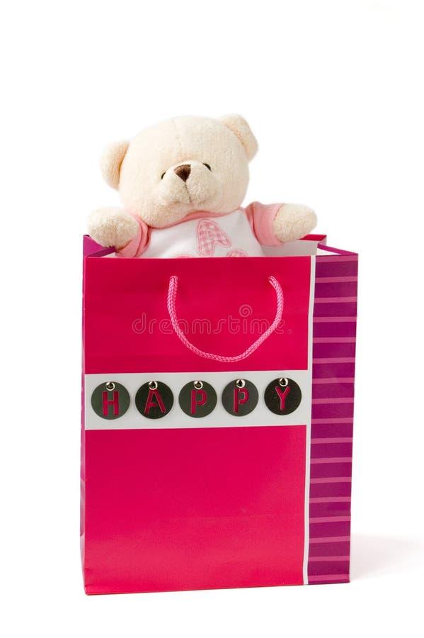 Urso no pacote fotografia de stock royalty free