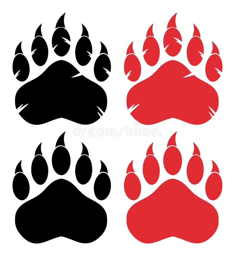 Urso Paw Logo Design Concept coleção ilustração do vetor