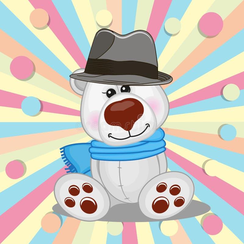 Urso polar com chapéu ilustração royalty free