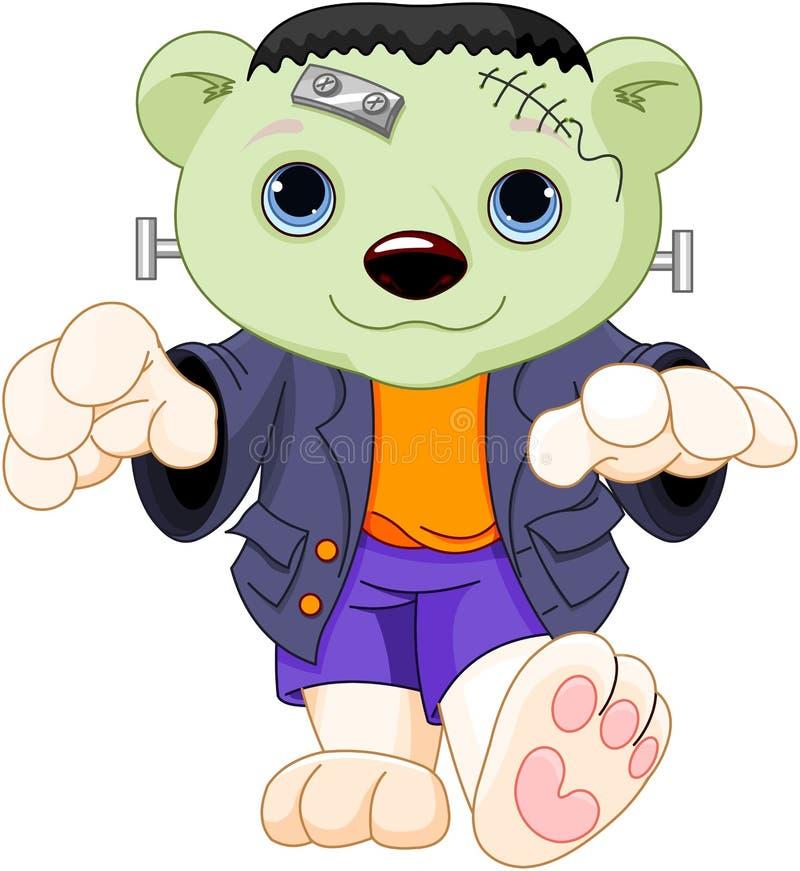 Urso polar de Frankenstein ilustração stock