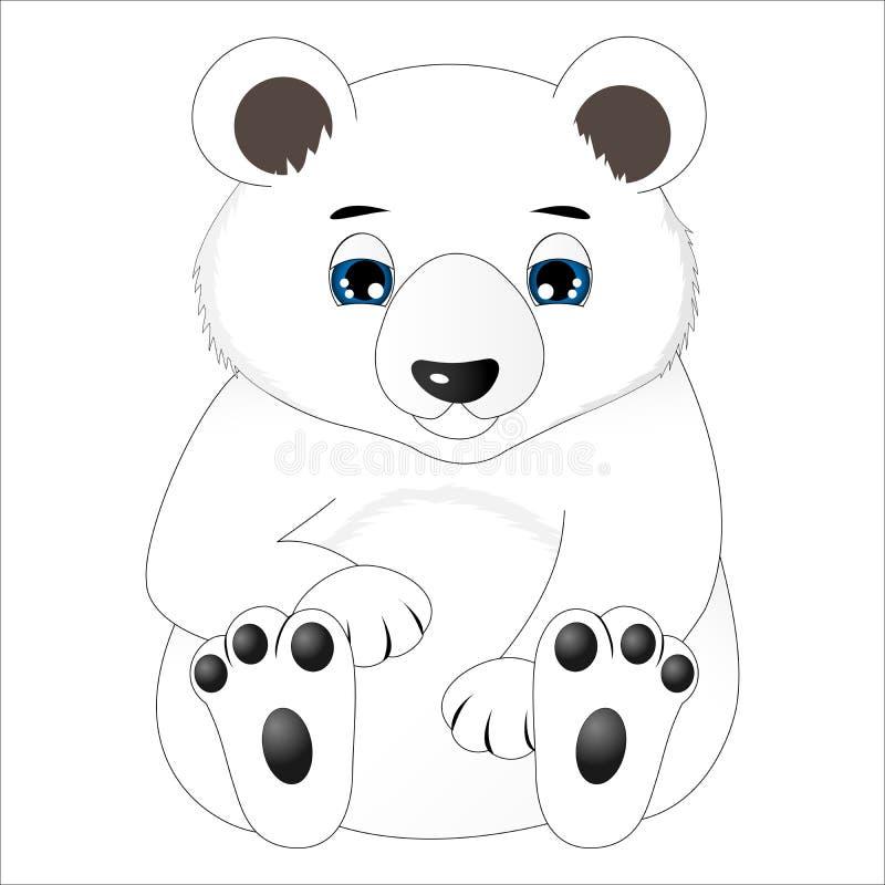 Urso polar do bebê bonito ilustração royalty free