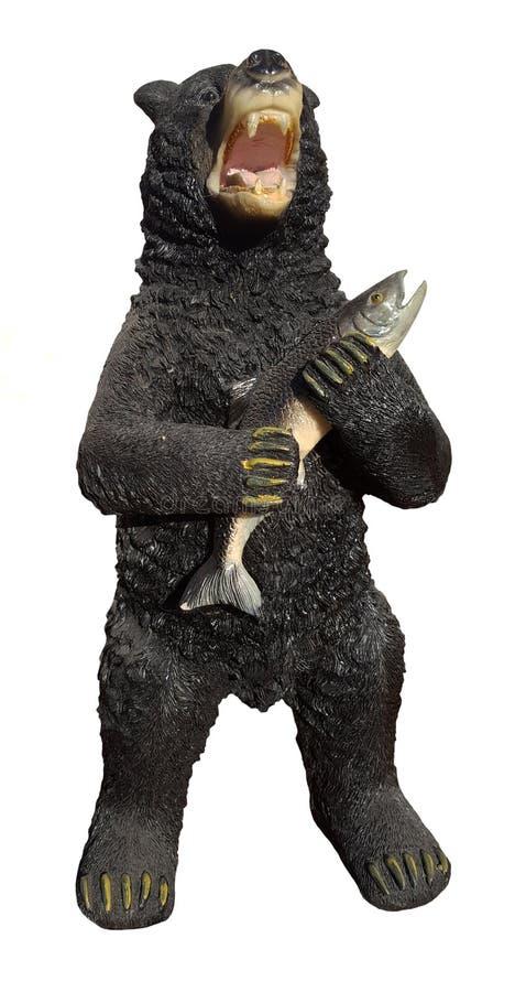 Urso preto da estátua fotografia de stock