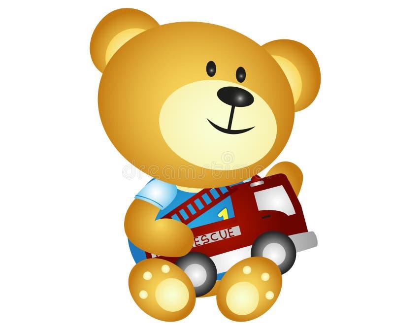 Urso que joga brinquedos ilustração do vetor