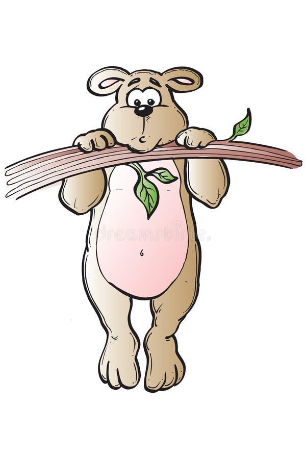 Urso que pendura ao redor ilustração royalty free