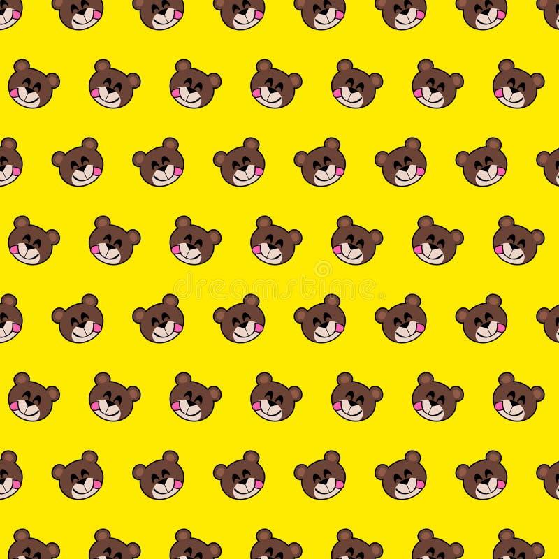 Urso - teste padrão 11 do emoji ilustração stock
