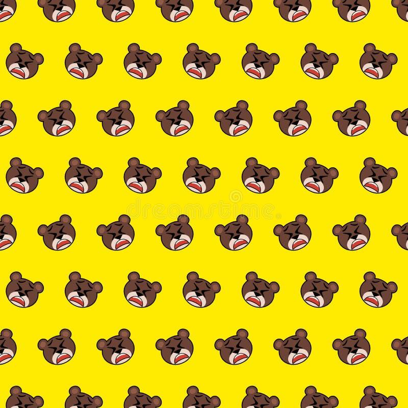Urso - teste padrão 34 do emoji ilustração royalty free