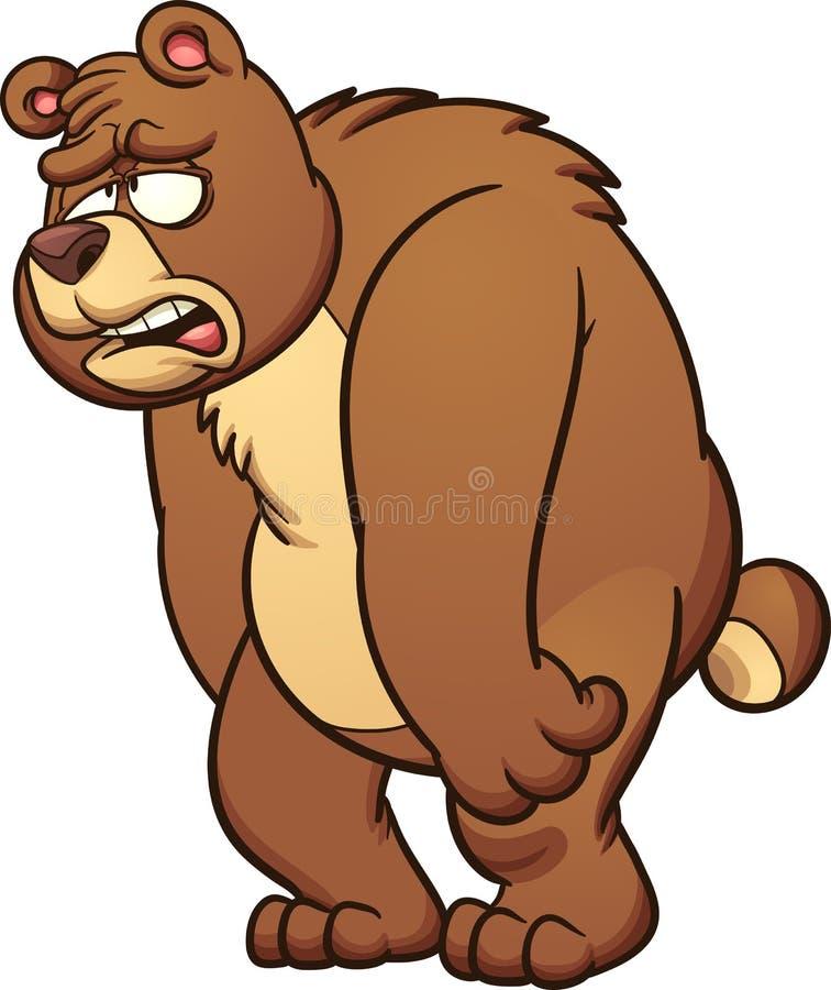 Urso triste ilustração stock