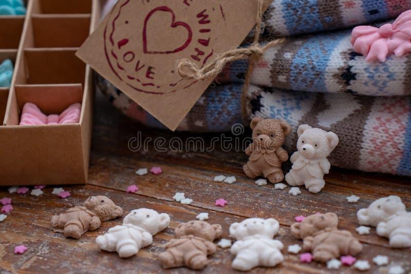 Ursos cobertos de açúcar fotografia de stock