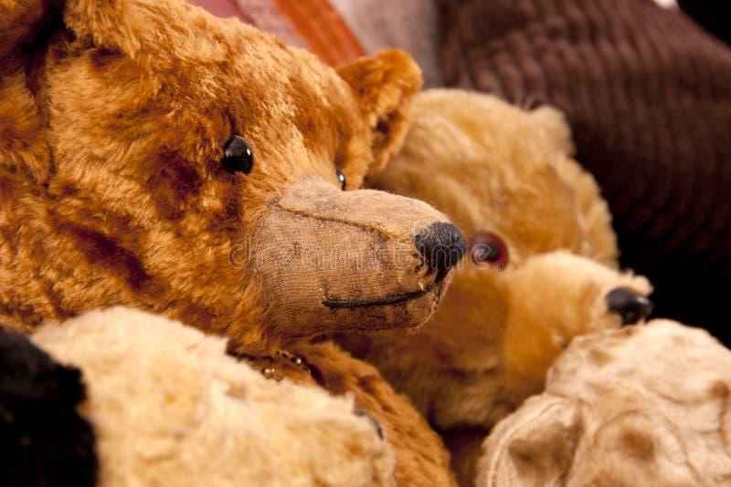 Ursos da antiguidade do brinquedo foto de stock royalty free